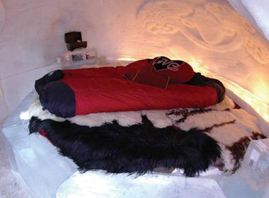 Dormir dans un igloo, une expérience rafraichissante