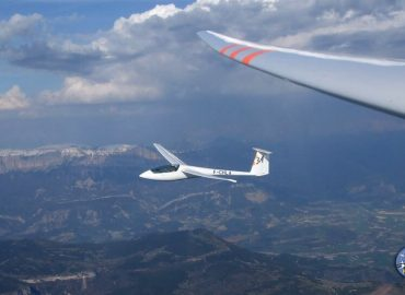 Vol d'initiation en planeur dans la Drôme