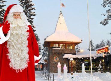Village du Père Noël en Laponie et message du Papa Noël