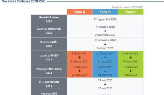 Vacances scolaires 2021 : calendrier officiel et dates par zone